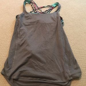 Lululemon open back work out top